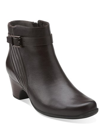 Brown Leyden Scale Ankle Boot
