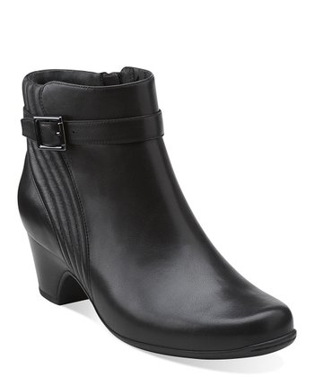 Black Leyden Scale Ankle Boot