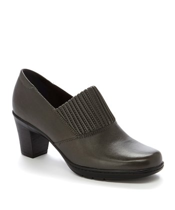Gray Thoughtful Q Leather Pump