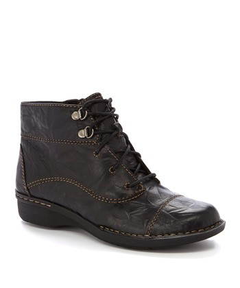 Black Scrunch Whistle August Leather Boot