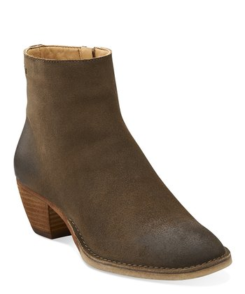 Taupe Suede Dacey Rose Ankle Boot