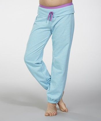 Blue Fish Fold-Over Pants - Girls