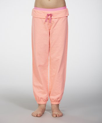 Coral Ice Fold-Over Pants - Girls