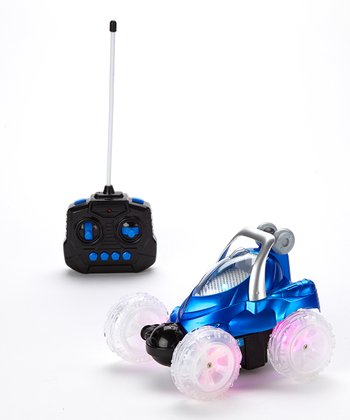 Blue Crazy Storm Remote Control Stunt Car
