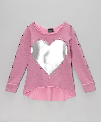Pink Heart Long-Sleeve Tee