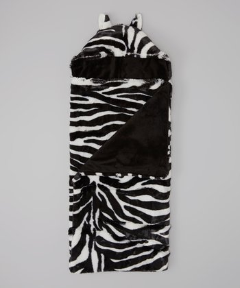 Black & White Zebra Hooded Blanket
