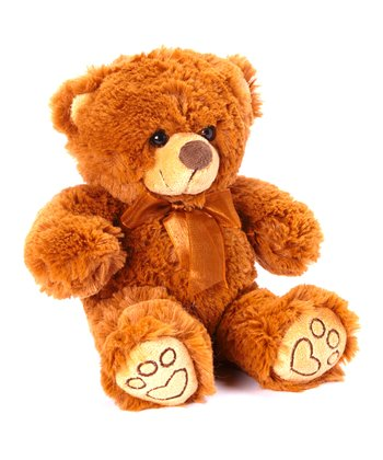 Brown Ribbon Bear Plush Toy