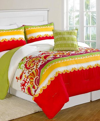 Red & Green Secret Garden Bed-in-a-Bag Set