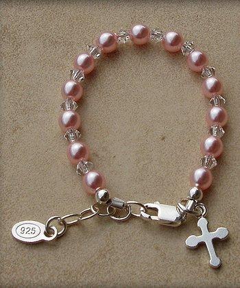 Tiny Treasures  Sterling Silver Pink Jenna Bracelet