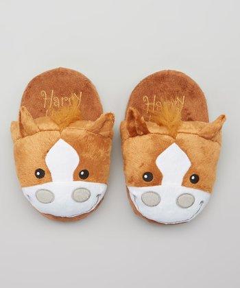Brown Harry Hoofs Slippers