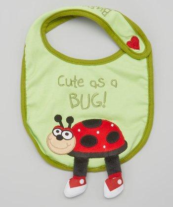 Green 'Cute as a Bug' Busy Bug Bib