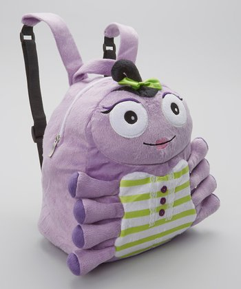 Purple Mimi Couture Cuddly Creature Backpack