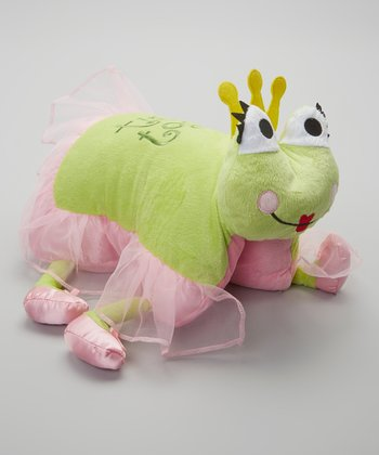 Pink & Green Tippy Toad Foldable Pillow