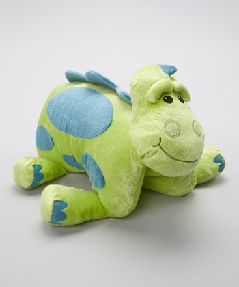 Green Silly Saurus Foldable Pillow