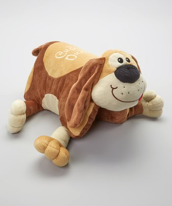 Brown Cuddly Dudley Foldable Pillow