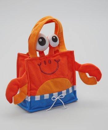 Orange Grabby Crabby Tote Bag