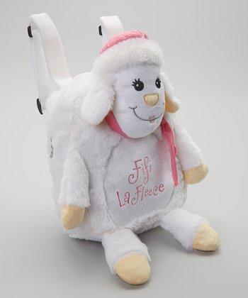 White Fifi LaFleece Backpack