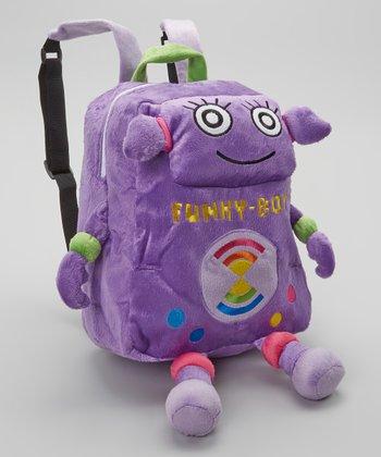 Purple Funky-Bot Backpack