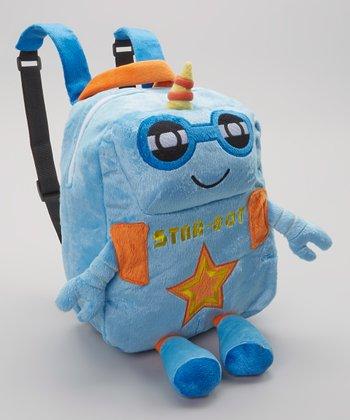 Blue & Orange Star-Bot Backpack