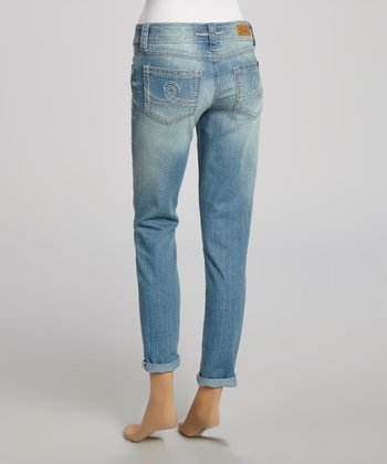 Seashore Blue Rolled Skinny Jeans