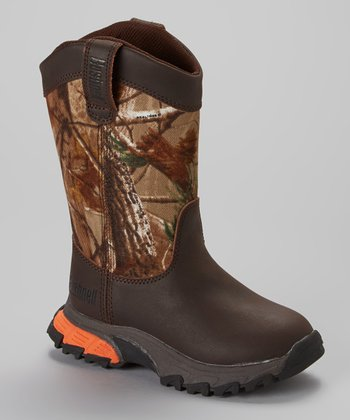 Brown Camo Rancher Boot - Kids