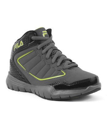 Pewter & Lime Punch Status Hi-Top Sneaker