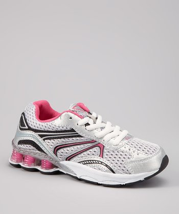 Silver & Hot Pink Swift Sneaker