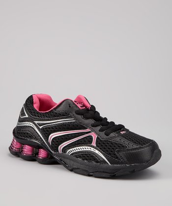 Black & Hot Pink Aero Sneaker