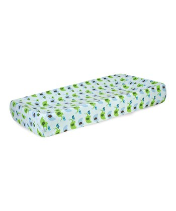 Blue Elephant Parade Changing Pad Cover