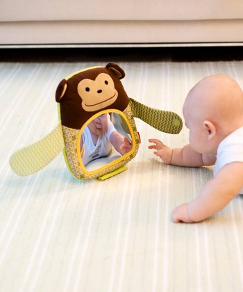 Monkey Hug & Hide Peekaboo Mirror