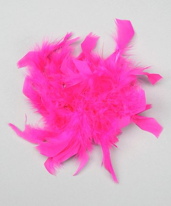 Fuchsia Feather Clip