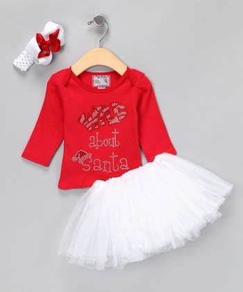 Red 'Wild About Santa' Tutu Set - Infant, Toddler & Girls