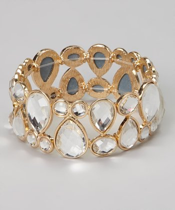 Gold Crystal Stretch Bracelet