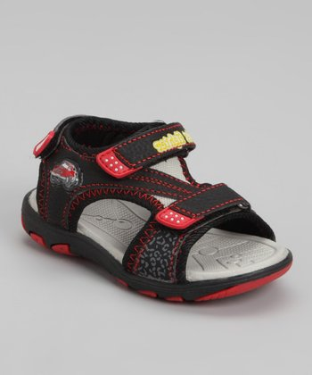 Black & Red Sandal