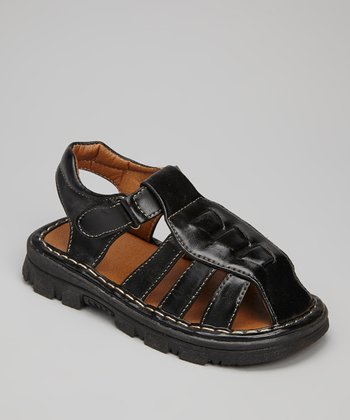 Black Adjustable Sandal