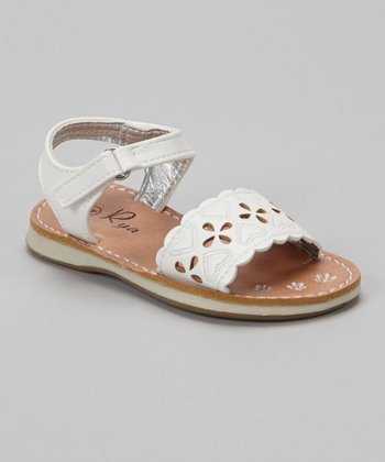 White Heart Sandal