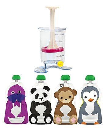 Squooshi Reusable Food Pouch Fill 'n' Squeeze - Set of Four