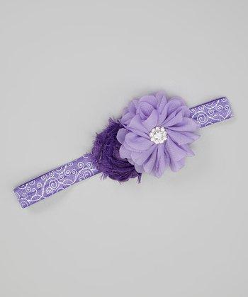 Lavender & Purple Chiffon Flower Headband