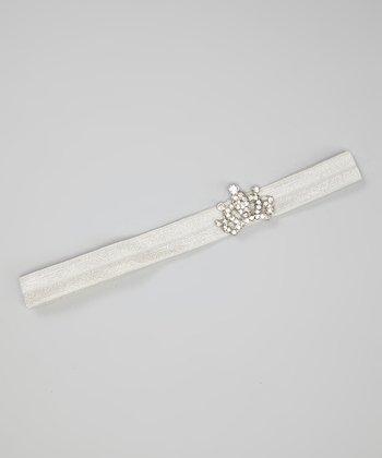 White Rhinestone Crown Headband