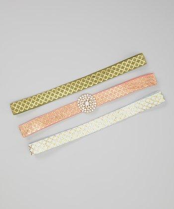 Sage & Pink Headband Set