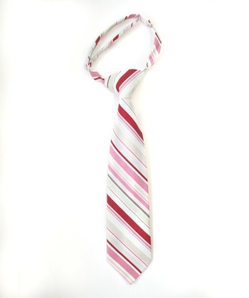 Red & Pink Stripe Tie