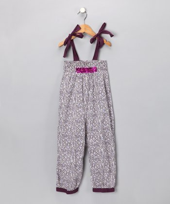 Purple Leaves Romper - Toddler & Girls