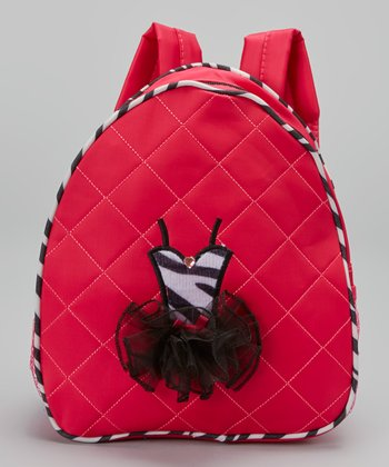 Hot Pink Zebra Ballerina Backpack