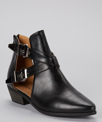 Black Open Side Pride Bootie