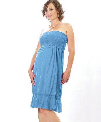 Blue 2-in-1 Maternity Dress Go Skirt