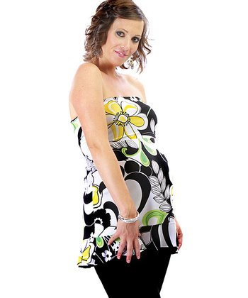 Bright Print 4-in-1 Maternity Top Go Skirt