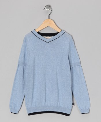 Blue & French Navy Pullover - Toddler & Boys