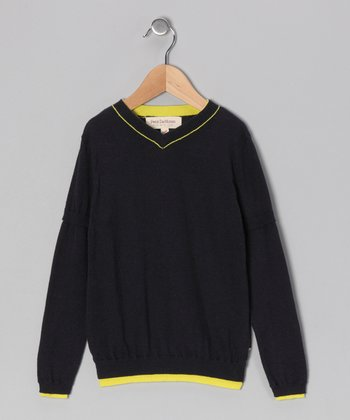 French Navy & Yellow Pullover - Toddler & Boys