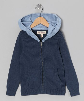 Marine & Blue Zip-Up Hoodie - Toddler & Boys