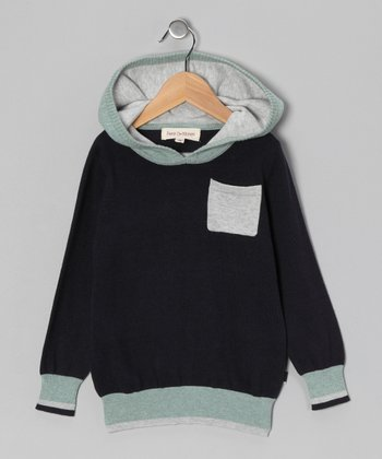 Grass & French Navy Hoodie - Toddler & Boys